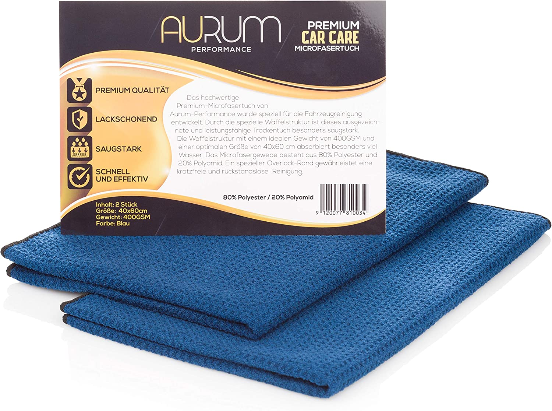 Aurum-Performance Paños de microfibra absorbentes con estructura suave de gofres - paño seco para el uso en parabrisas, vidrios y pinturas de coches ...
