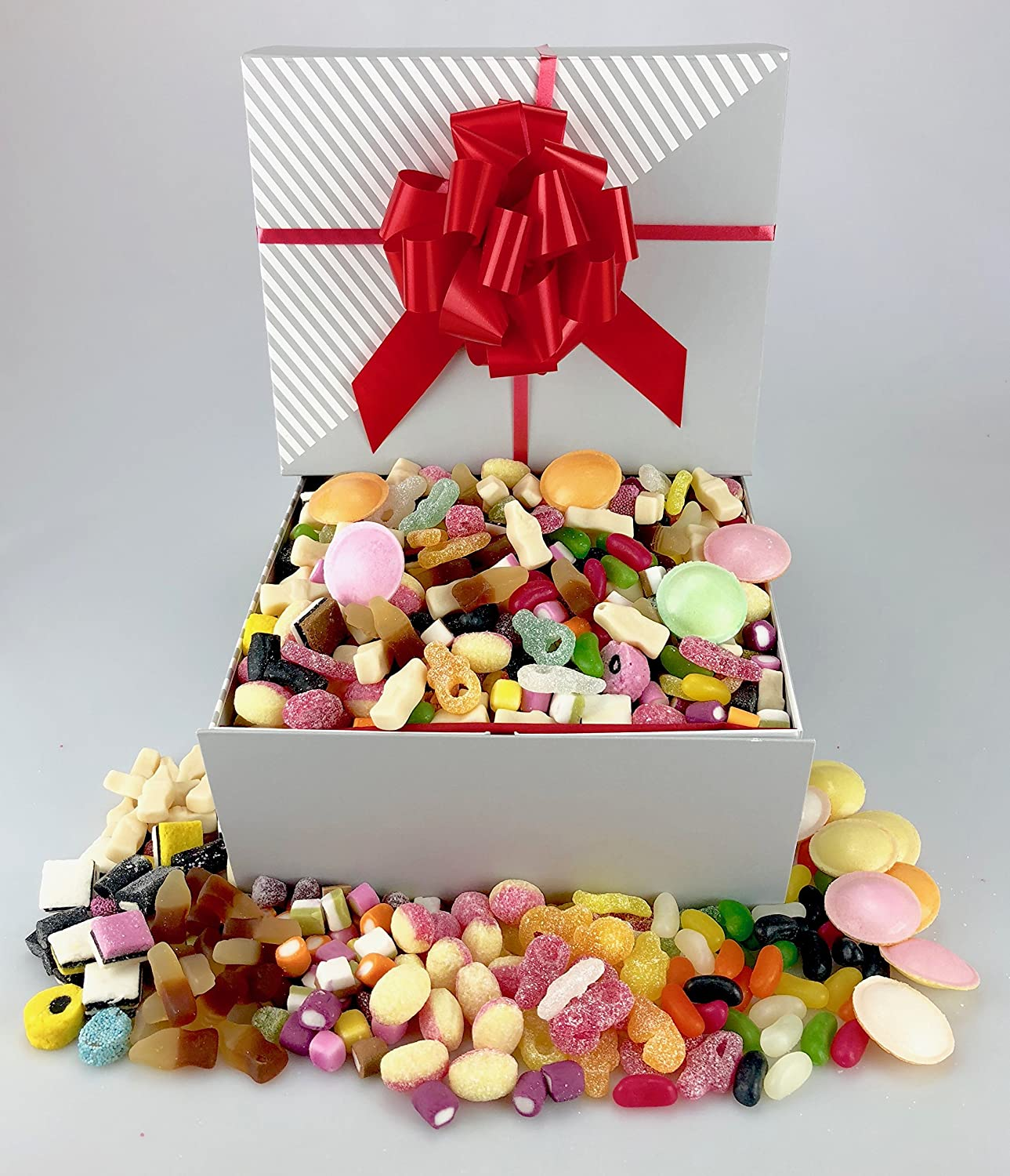 Deluxe Large RETRO SWEET HAMPER Gift Wrapped Birthday Engagement Graduation