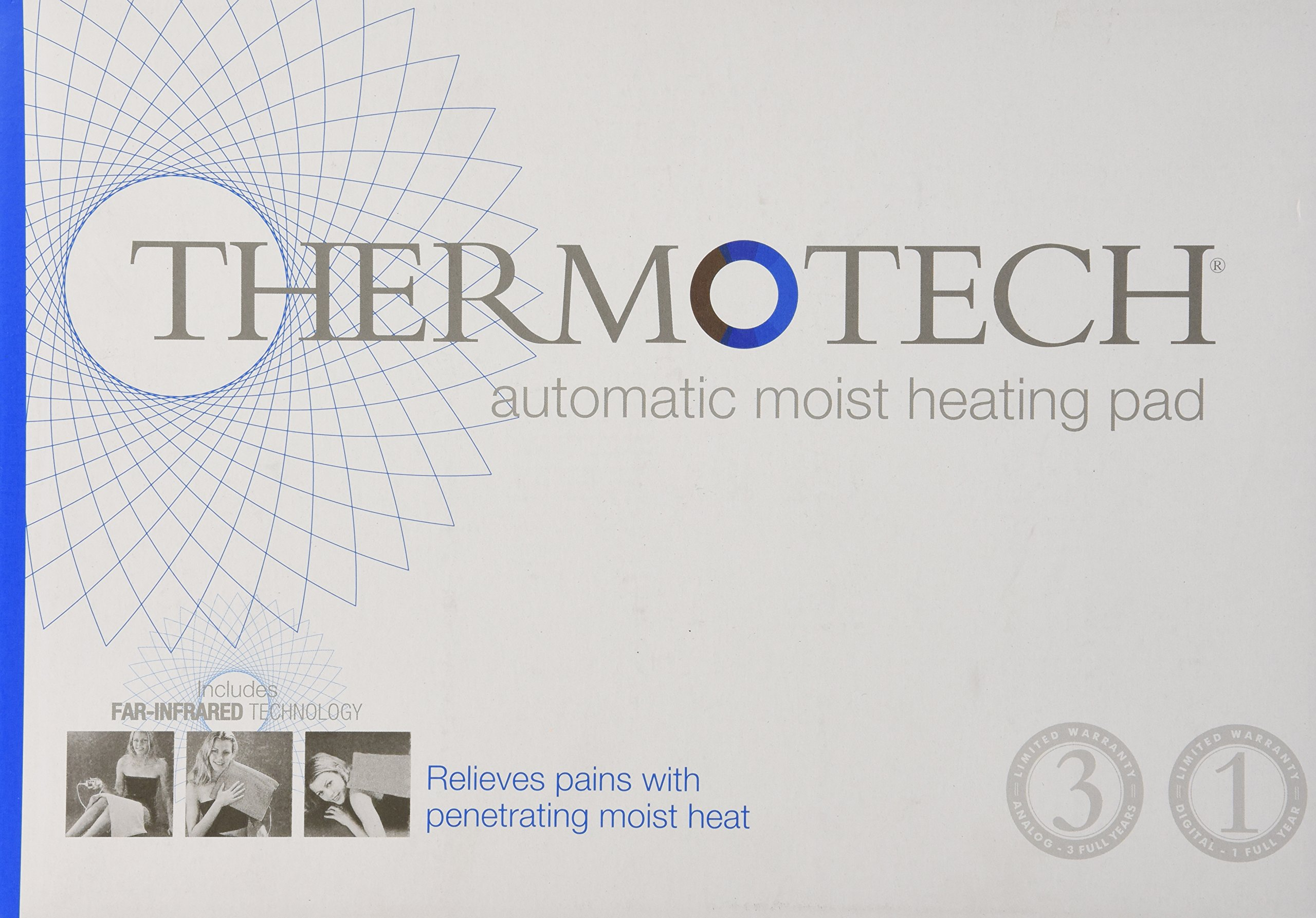 Thermotech Automatic Digital Moist Heating Pad Heating Pad, Neck and Shoulder, 18x18 by ThermoTech