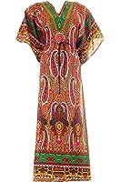 Hastkala Women's Long Maxi Boho Dress Summer Long Kaftan Casual Beach Dress
