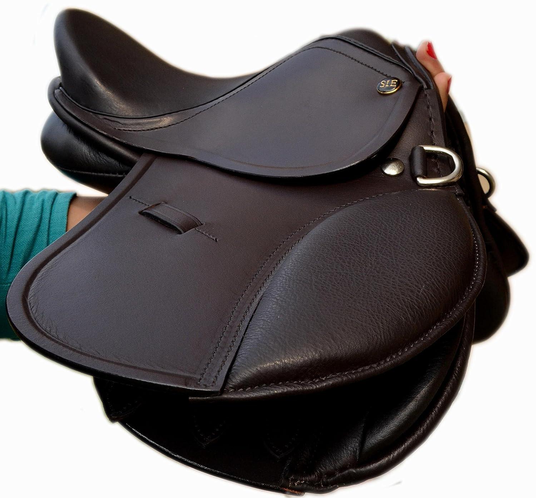 Small Kids Enlgish 10'' and 12'' Leather Jumping Saddles