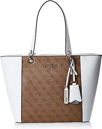 Guess Womens Tote Bag, White Multi - SK669123