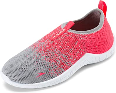*New* Speedo Surfknit Kids Water Slip On Shoes Grey//Black//Neon Select A Size