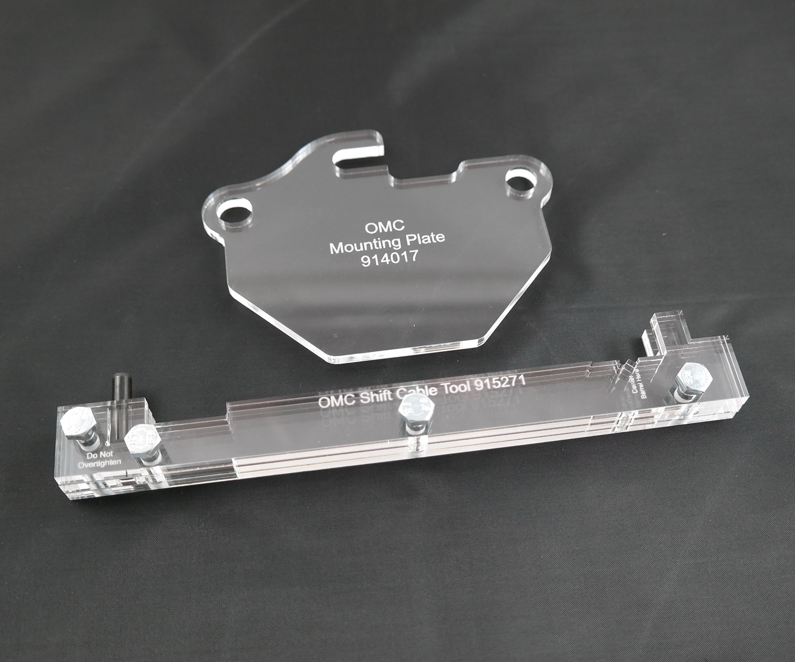 SpeedFreakCNC OMC Cobra Compatible Sterndrive Shift Cable & Bell Crank Alignment Tools 915271 & 914017