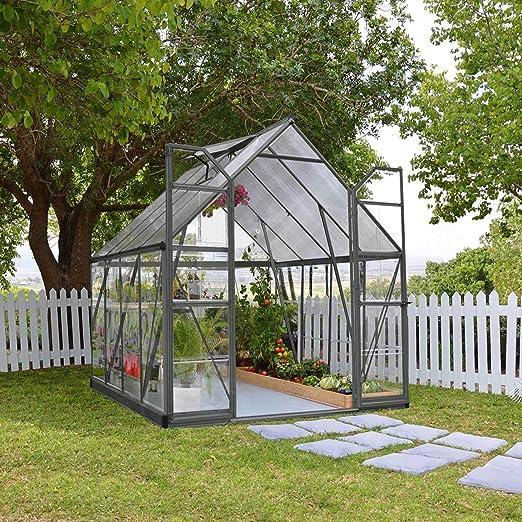 Palram - Invernadero de aluminio para jardín (8 x 12 cm), color antracita: Amazon.es: Jardín