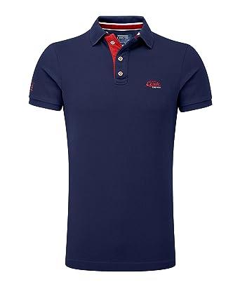 M.Conte Camisa Polo para Hombre Manga Corta de piqué algodón M L ...