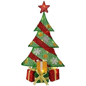 WeRChristmas - Silueta de Navidad con luces LED y albornoz de color blanco cálido, 74 cm, tamaño grande