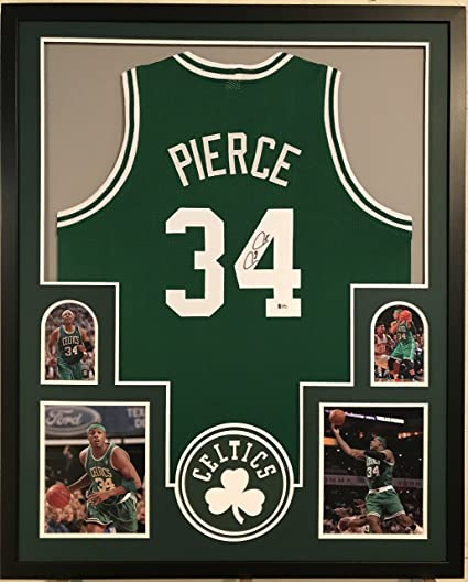 ded688cfa Image Unavailable. Image not available for. Color  Paul Pierce Autographed  Custom Framed Boston Celtics Jersey ...