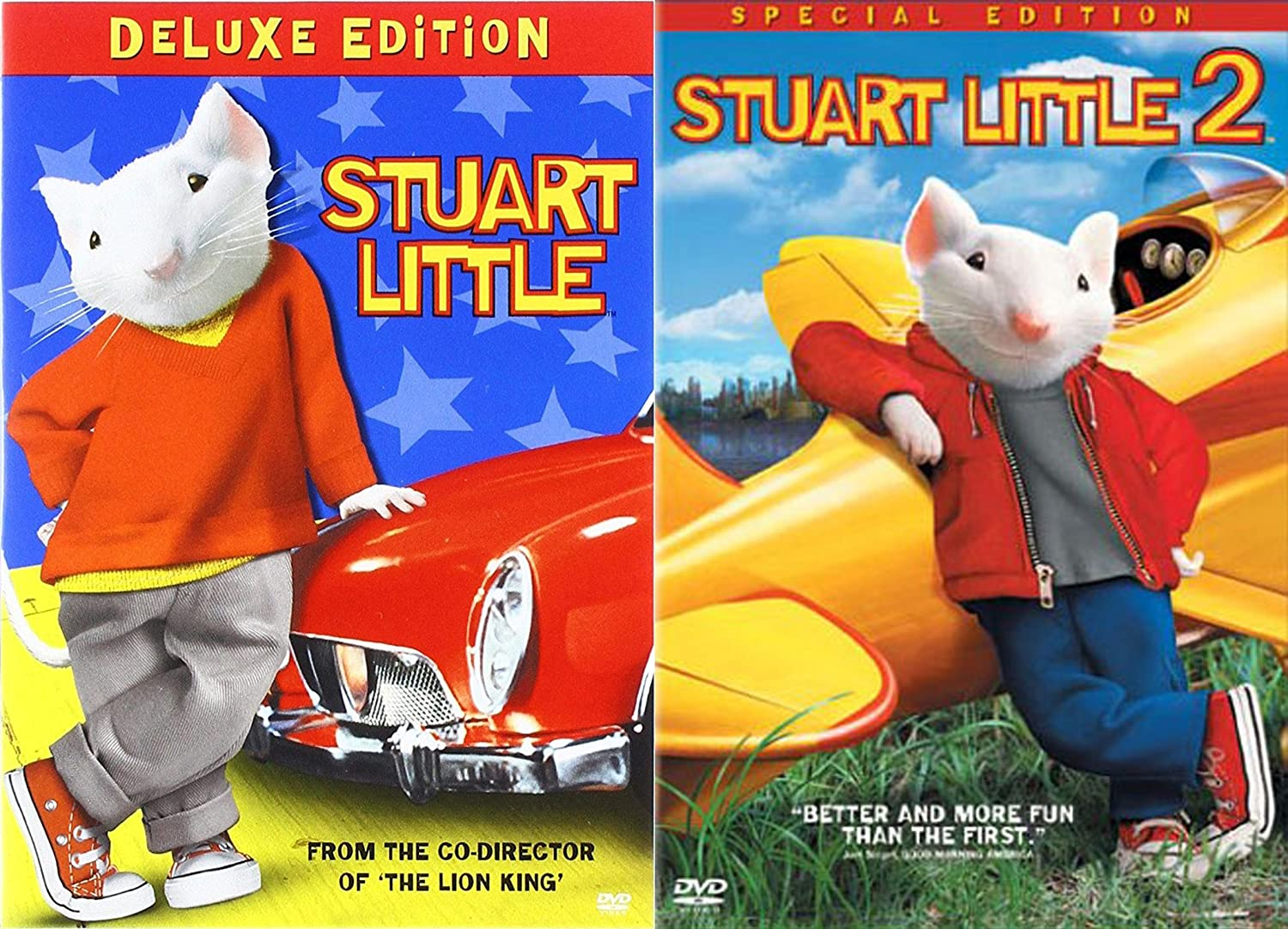 Amazon Com Stuart Little Collection Stuart Little Deluxe Edition Stuart Little 2 Deluxe Edition 2 Dvd Bundle Various Various Movies Tv