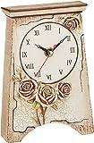 かわ畑 置き時計・掛け時計 ピンク 約12×5×18cm