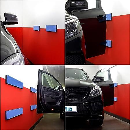 Haftplus Auto Türkantenschutz Türkantenschoner Für Ihre Garage Mit Klebefolie Von 3m Schutzleiste Für Lackschäden Und Schrammen 4 Stück L 47 Cm B 11 Cm H 3 Cm Auto