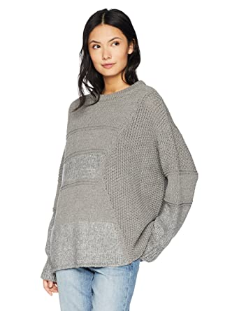 c57c1b82f2 Cable Stitch Women s Mixed Stitch Long-Sleeve Sweater X-Small Heather Grey