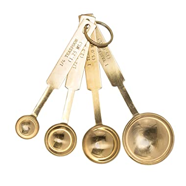 Bloomingville Stainless Steel Measuring Spoon Set, Gold