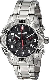 Wenger Mens 01.0853.102 Roadster Chrono Analog Display Swiss Quartz Silver Watch