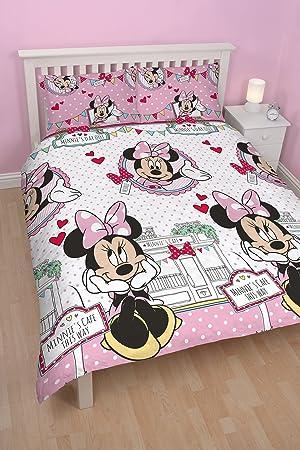 linge de lit disney 200x200 Disney Parure de lit Minnie housse de couette double 200 x 200 cm  linge de lit disney 200x200