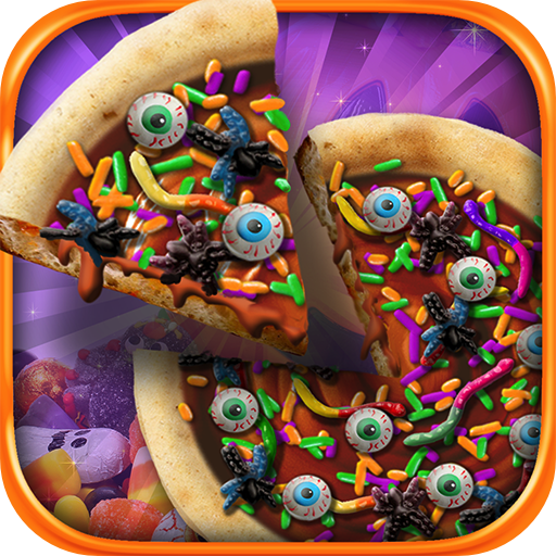 Halloween Candy Pizza Maker - Kids Dessert Cooking Game -