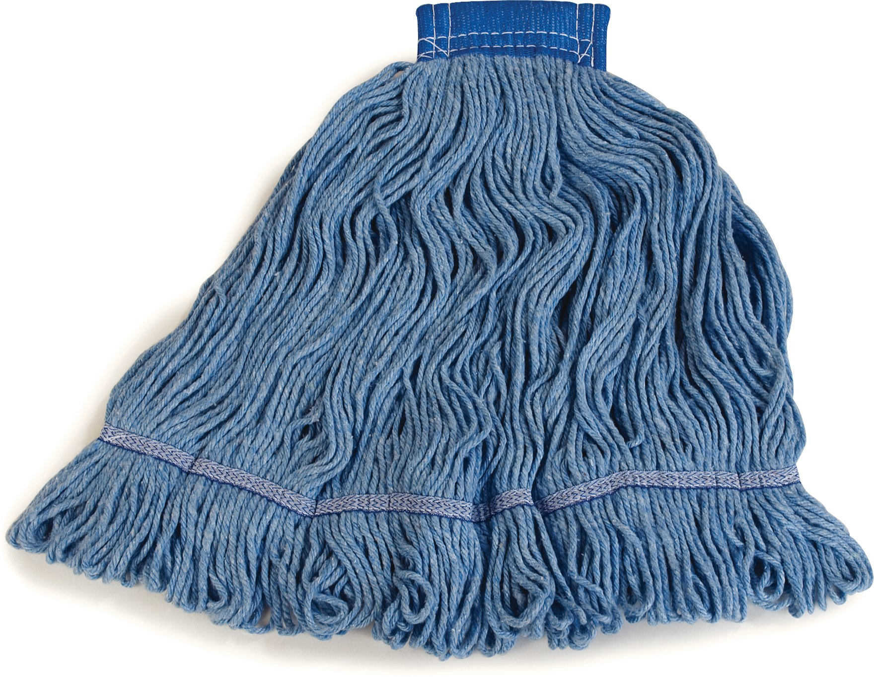 Carlisle 36946014 Looped-End Premium Mop Head With Blue Band, X-Large, Blue by Carlisle (Image #7)