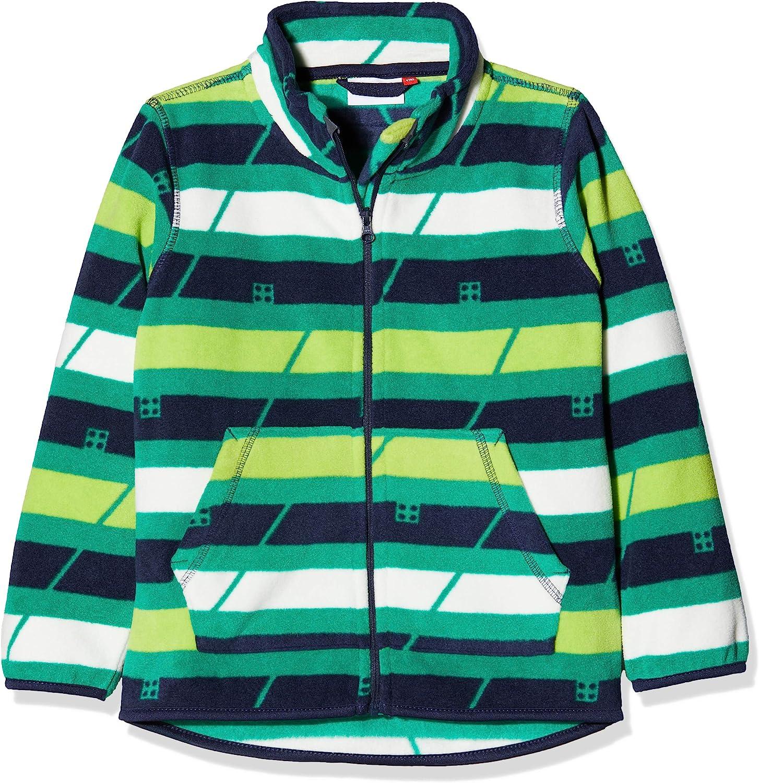 Fleece Striped Fleece Lego/® Pattern Cardigan Chin Guard Protector W//Reflective Detail Cardigan Lego Wear Kids /& Baby Sander 770