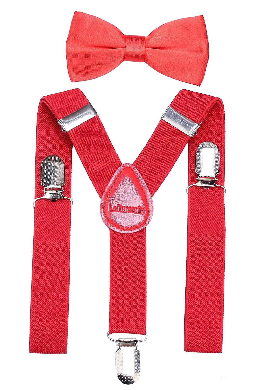 Baby Kids Boy Girl Elastic Suspender Bow Tie Set