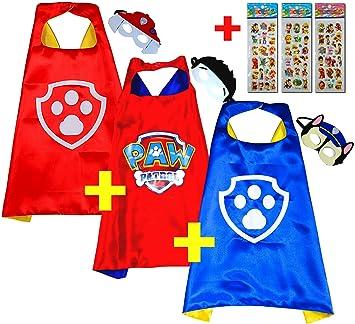 Paw Patrol Chase Cape y máscara - Super Héroes de disfraces para niños - Disfraz para