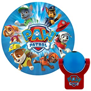 Projectables LED Plug-in Night, Blue and Red, Light Sensing, Auto Nickelodeon Paw Patrol Image on Ceiling, Wall, or Floor, 30604 Multicolor