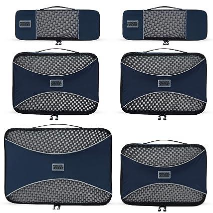 Pro Packing Cubes - Organizador para Maletas Unisex Adulto Azul Azul Marino Juego de 6 Piezas