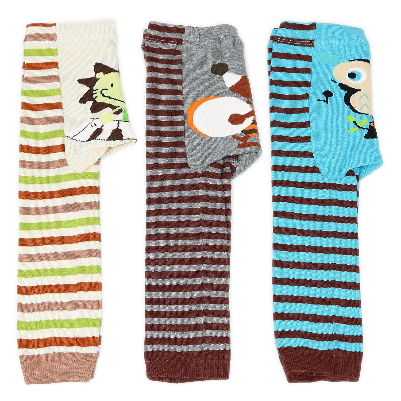 Dotty Fish - Jambières en laine 3 pièces pour garçons et filles - Tailles 6-12 mois, 12-24 mois et 24+ mois Busha