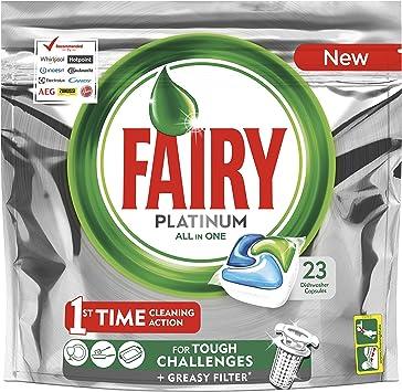 Fairy Platinum Normal Cápsulas de Lavavajillas, 23 Cápsulas ...