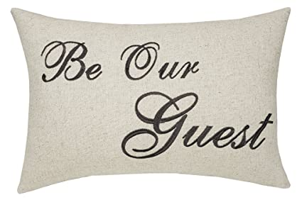 Amazon Com Trivenee Tex Pillowcase Embroidered Be Our Guest Home