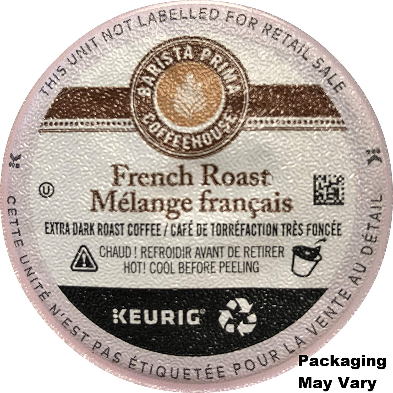 Barista Prima Coffeehouse French Roast Coffee K-Cups for Keurig Brewers, 120 Count (Packaging May Vary)