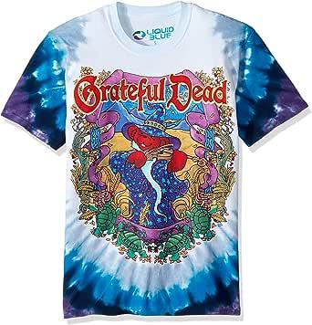 Liquid Blue Mens 11501-T Dy-S Grateful Dead-Terrapin Moon T-Shirt Short Sleeve T-Shirt - Multi