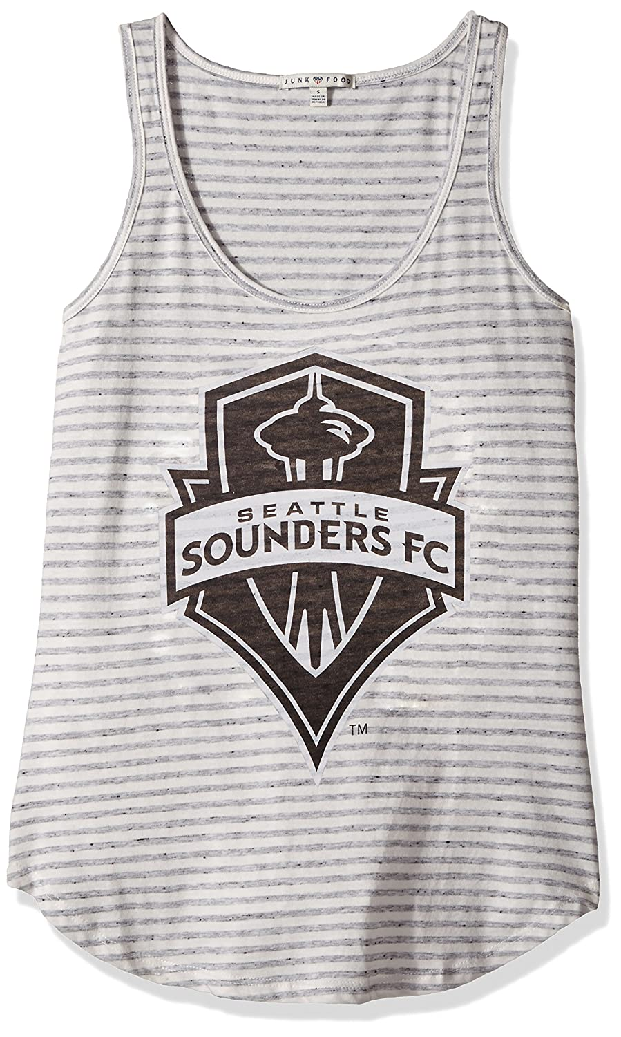 ジャンクフードレディースタンク B072MT4LJ1 XX-Large|Sun/Grey|Seattle Sounders FC Sun/Grey XX-Large