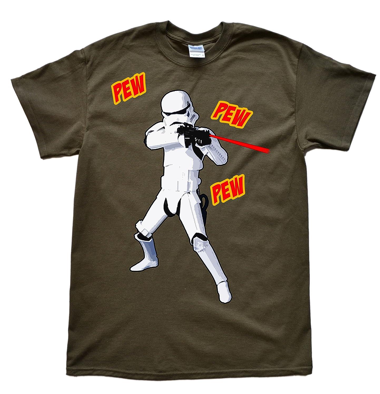 Stooble Men's Pew Pew Trooper T-Shirt Stooble - 1ClickPrint