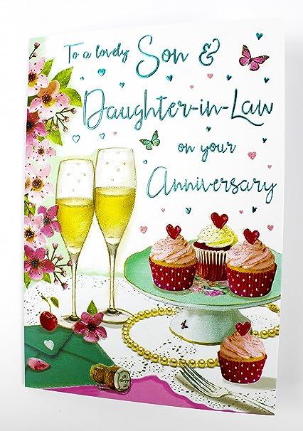 Anniversario Matrimonio Figlio.Son And Daughter In Law Anniversario Di Matrimonio Biglietto D