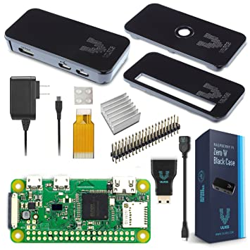 Amazon Com Vilros Raspberry Pi Zero W Basic Starter Kit Black Case