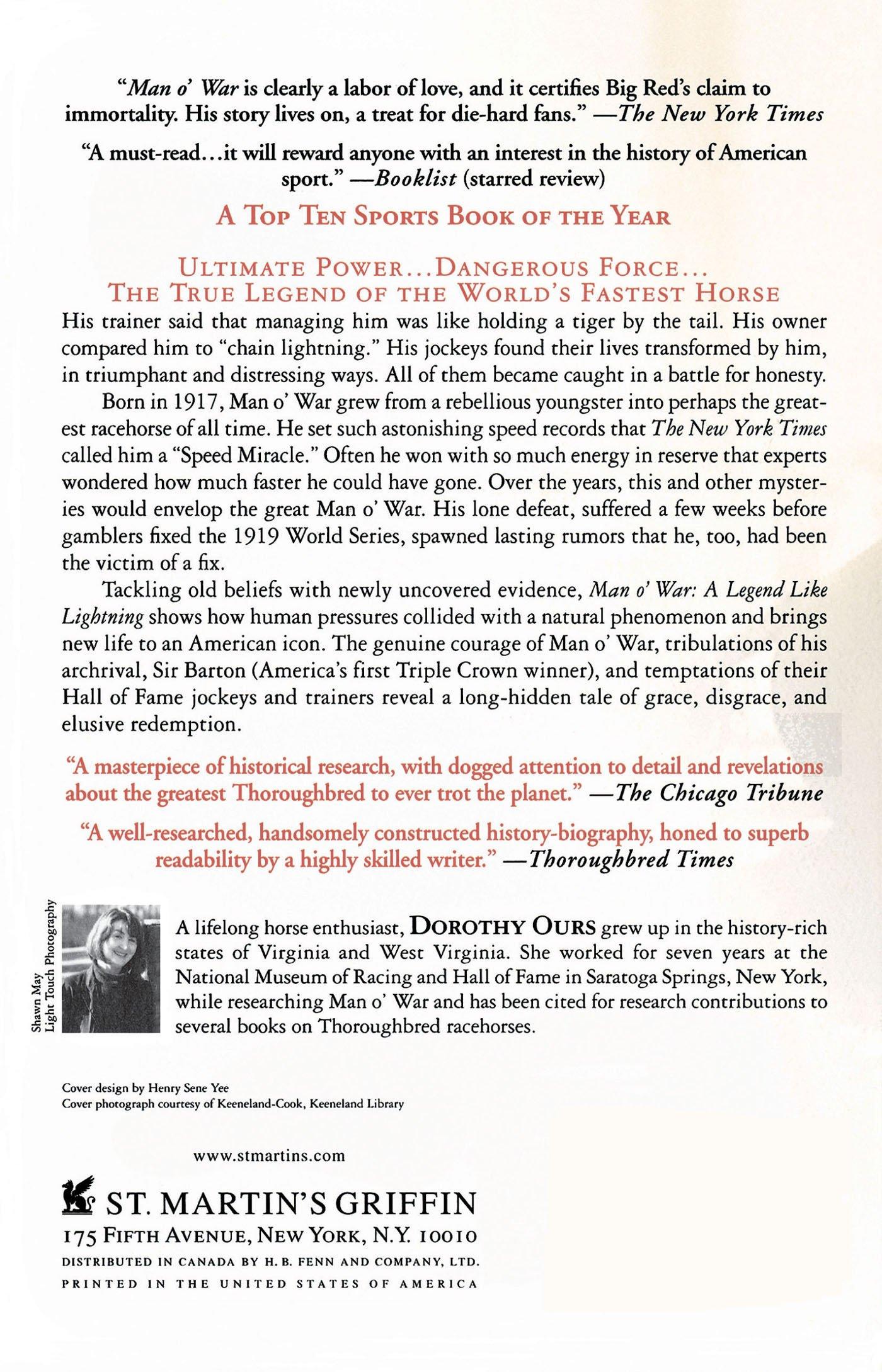 Man O' War: A Legend Like Lightning: Dorothy Ours: 9780312341008:  Amazon: Books