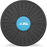 JLL® Plastic Balance Board Exercise Fitness Yoga Pilates Workout Rehabilitation Wobble Board. Includes Attachable More Rounded Base For Greater Difficulty …