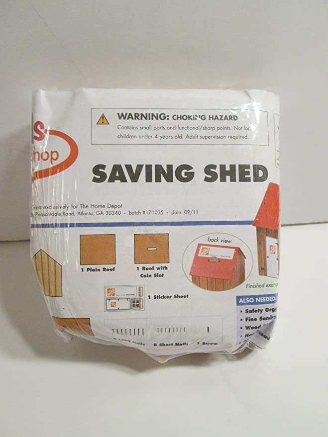 Amazon.com: Home Depot Kids Workshop - Saving Shed Bank ...