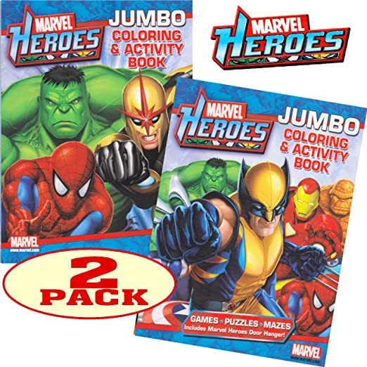buy marvel heroes avengers jumbo coloring and activity book set 2 books online at low prices in india amazonin - Jumbo Coloring Book