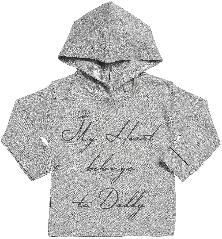 Baby Boy Hoodie Baby Girl Hoodie Baby Gift My Heart Belongs To Daddy Baby Hoodie SR Baby Hooded Sweatshirt