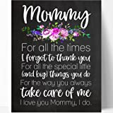 Amazon Price History for:Mommy Quote Chalkboard Wall Art Print (Mommy Floral Times)