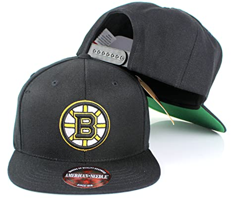 8639d50a8e1a88 American Needle 400 Series NHL Team Hat, Boston Bruins, Black (400A2V-BBR