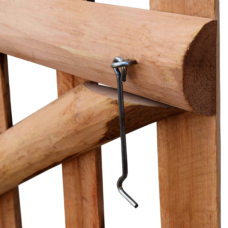 vidaXL Haselnuss Holz Impr/ägniert Gartentor 100x60cm Zauntor Gartent/ür Pforte