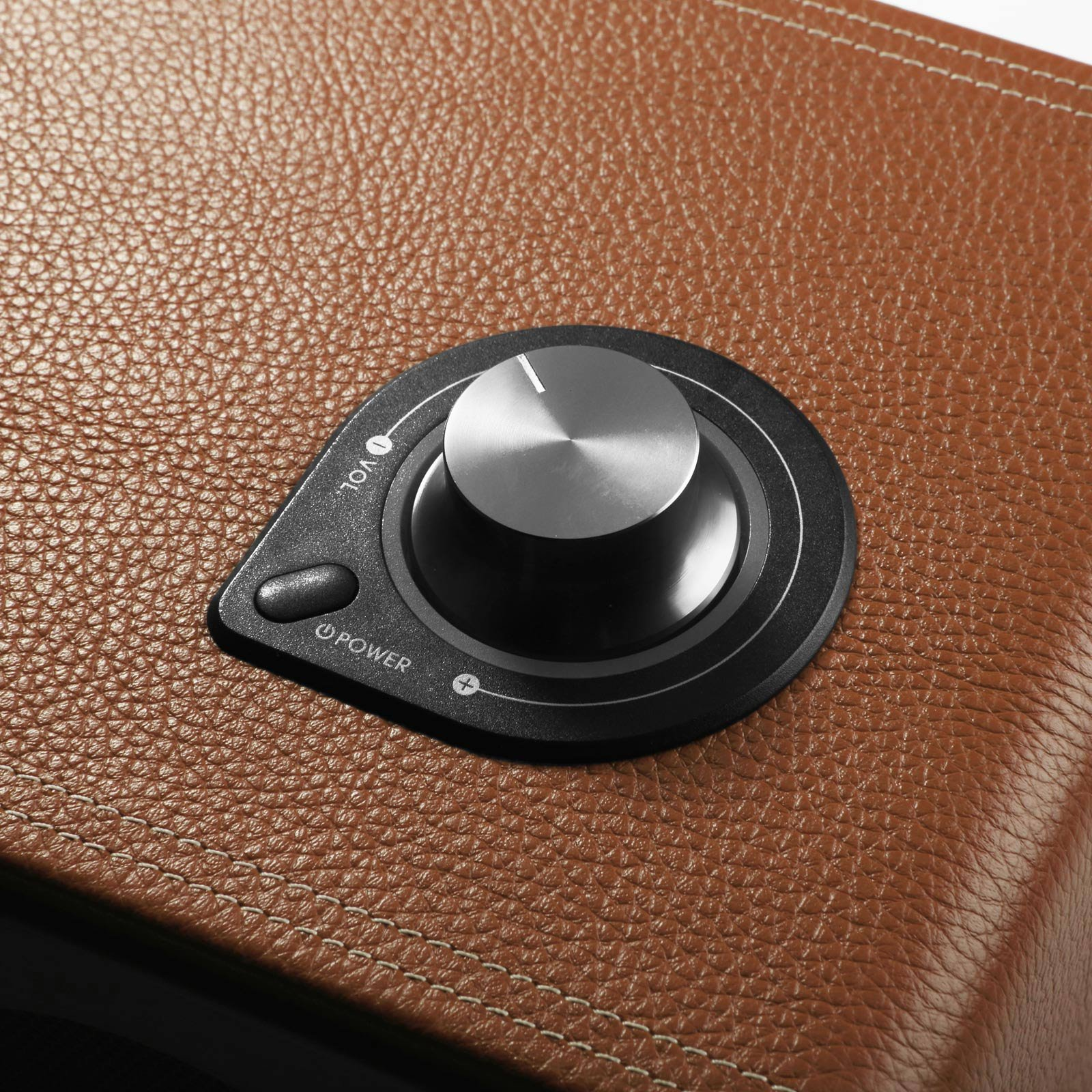GGMM M-Freedom Wireless Plug-n-Play Built-in WiFi Home Audio Leather Speaker (Compatible with Apple Products)| 30W Output, Supports Airplay, DLNA, Spotify, Pandora (Tan) by GGMM (Image #7)