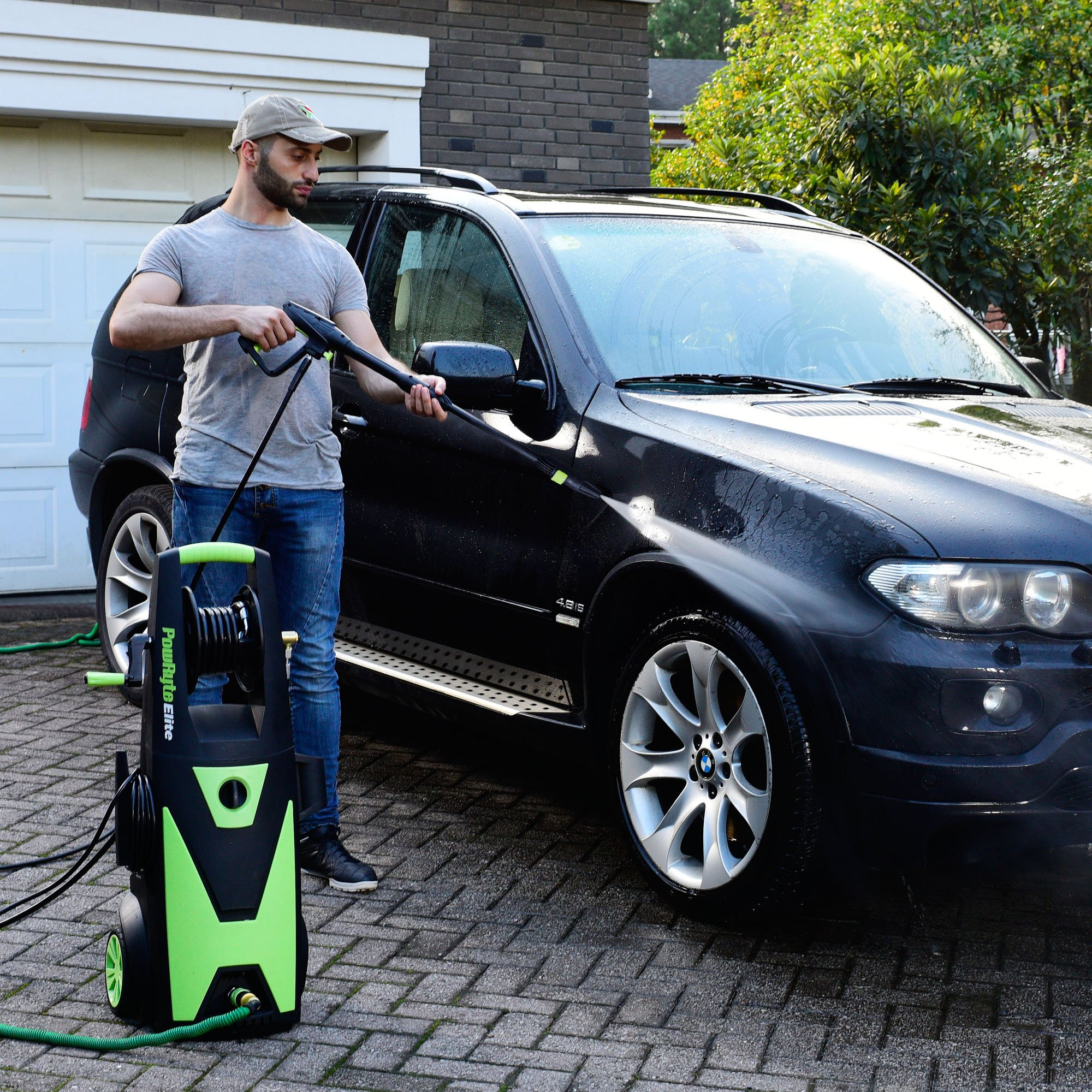 PowRyte Elite Electric Pressure Washer, 2200PSI 2.0GPM Power Washer with Hose Reel, Extra Turbo Nozzle, Induction Motor by PowRyte (Image #2)