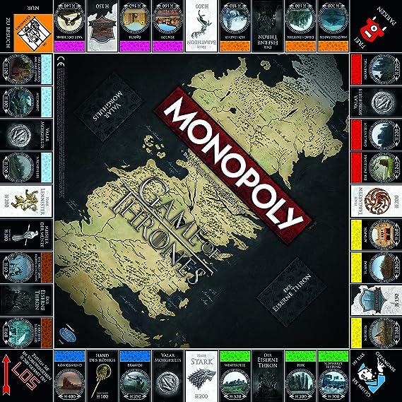 Winning Moves Monopoly Game of Thrones Adultos Simulación económica - Juego de Tablero (Simulación económica, Adultos, 18 año(s), Alemán, Alemán, 60 Pieza(s)): Amazon.es: Juguetes y juegos