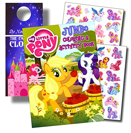 My Little Pony Coloring Book And Stickers Super Set Bundle With