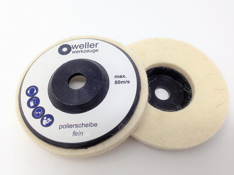 Lot de 3 disques de polissage pour ponceuse dangle portative Bosch GWS 10,8 10 8 12 V 12 76 Berner W/ürth BTI