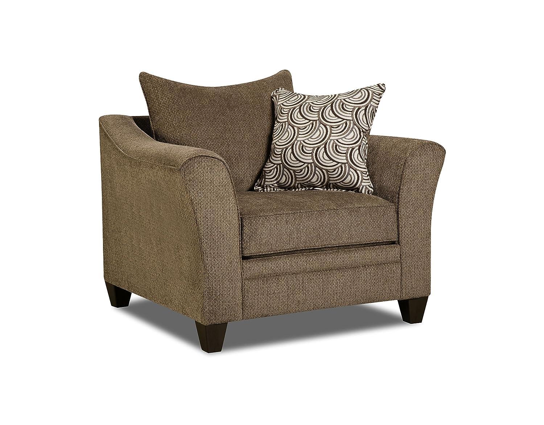 Swell Simmons Upholstery 6485 01 Truffle Albany Chair Brown Inzonedesignstudio Interior Chair Design Inzonedesignstudiocom