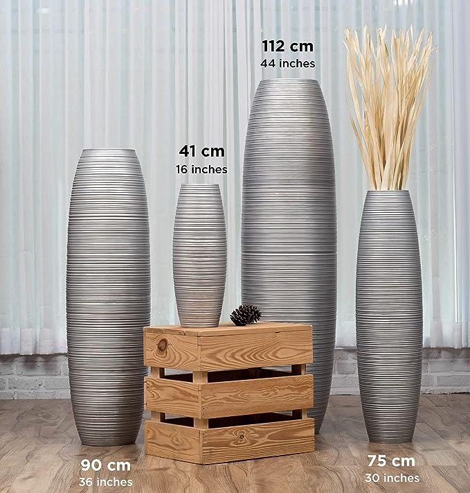 Generic Brands Vase A Poser Au Sol pour Branches D/écoratives Design Vase Haut 90 cm Marron Bois de Mangue